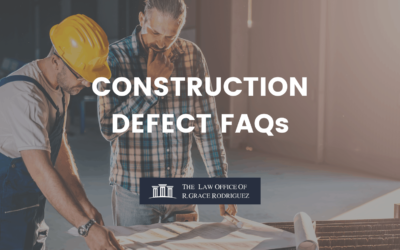 CONSTRUCTION DEFECT FAQs