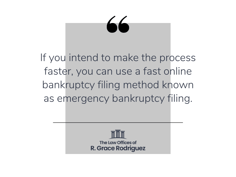 Graphic Emergency Bankruptcy Filing